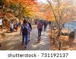 korankei  aichi  japan   on...   Shutterstock . vector #731192137