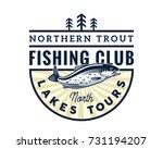 modern summer fishing logo...   Shutterstock .eps vector #731194207