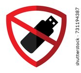 icon symbol protection and...   Shutterstock .eps vector #731194387