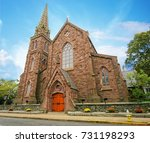 fa ade of the st. mary s parish ...   Shutterstock . vector #731198293