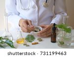 the scientist or doctor make... | Shutterstock . vector #731199463