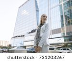 outdoors portrait of young... | Shutterstock . vector #731203267