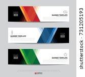 design of flyers  banners ... | Shutterstock .eps vector #731205193