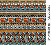 tribal seamless ornament in... | Shutterstock .eps vector #731206687