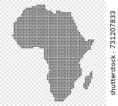 dotted map of africa | Shutterstock .eps vector #731207833