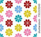 floral pattern design  babies... | Shutterstock .eps vector #731215243