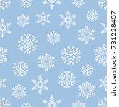 christmas seamless pattern of... | Shutterstock .eps vector #731228407
