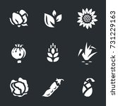 vector set of harvest icons. | Shutterstock .eps vector #731229163