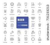 line icons set. beer pack.... | Shutterstock .eps vector #731233213