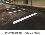 the parking lot of the... | Shutterstock . vector #731237503