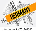 list of cities in germany  word ... | Shutterstock .eps vector #731241583