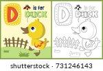 Vector Cartoon Of Duckling  ...