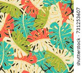 tropic seamless pattern with... | Shutterstock .eps vector #731253607