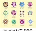 abstract triangular polygonal... | Shutterstock .eps vector #731255023
