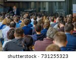 audience at the conference ... | Shutterstock . vector #731255323