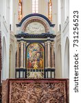 Small photo of ANTWERP, BELGIUM - AUGUST 22, 2013: Altarpiece of the Cathedral of Our Lady, Antwerp, Belgium.