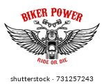 winged motorcycle. design... | Shutterstock .eps vector #731257243