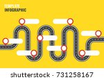 navigation winding road vector... | Shutterstock .eps vector #731258167