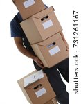 specialist courier delivery... | Shutterstock . vector #731261167