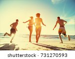 beach holidays concept with... | Shutterstock . vector #731270593