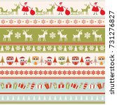 christmas seamless colorful... | Shutterstock .eps vector #731276827