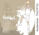 basketball player in action... | Shutterstock .eps vector #731279713