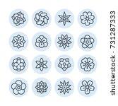 blossom icons. for mobile... | Shutterstock .eps vector #731287333