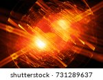 fiery glowing quantum in... | Shutterstock . vector #731289637