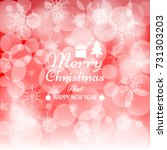 merry christmas and happy new...   Shutterstock .eps vector #731303203
