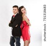 elegant couple annoying moment  ... | Shutterstock . vector #731318683