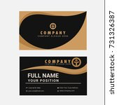 black and gold business card... | Shutterstock .eps vector #731326387