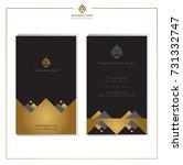 set of vector thai card... | Shutterstock .eps vector #731332747