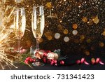 sparkling new year background.... | Shutterstock . vector #731341423