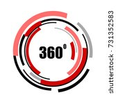 360 degrees icons isolated on... | Shutterstock .eps vector #731352583
