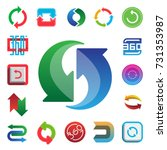 angle 360 degrees web icons... | Shutterstock .eps vector #731353987