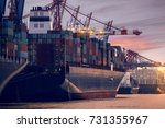 hamburg harbor | Shutterstock . vector #731355967