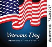us flag veterans day. | Shutterstock .eps vector #731369017
