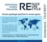 stop ocean plastic pollution... | Shutterstock .eps vector #731378557