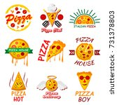 pizza  templates for fast food... | Shutterstock . vector #731378803