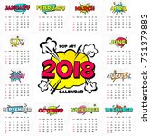 wall monthly calendar for the... | Shutterstock .eps vector #731379883