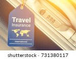 travel insurance and travel... | Shutterstock . vector #731380117
