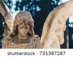 close up of a sculpture stone... | Shutterstock . vector #731387287