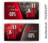 set of gift vouchers with... | Shutterstock .eps vector #731392297