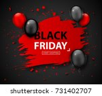 black friday sale poster.... | Shutterstock .eps vector #731402707