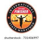 modern urban marathon badge... | Shutterstock .eps vector #731406997