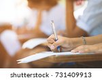 students takes the test or exam ... | Shutterstock . vector #731409913