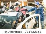best friends having fun... | Shutterstock . vector #731422153