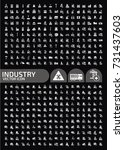 industry icon set vector | Shutterstock .eps vector #731437603