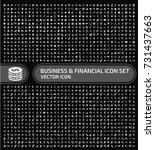 business and finance icon set... | Shutterstock .eps vector #731437663