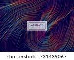 abstract artistic rainbow... | Shutterstock .eps vector #731439067